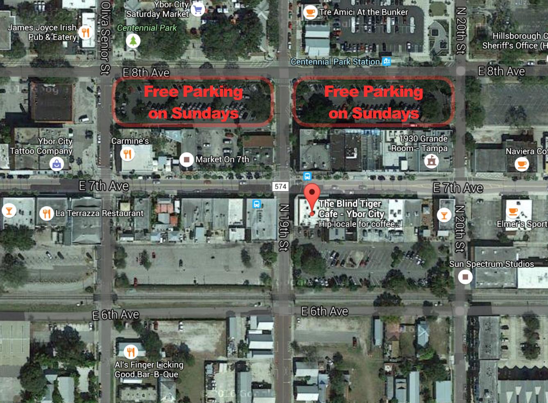 Blind Tiger Parking Map